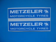 METZELER sticker / decal x2